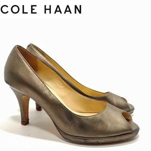 Cole Haan Collection Premium Metallic Heels 7.5B